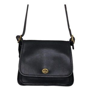 Vintage Coach Rambler Black Leather Legacy bag